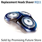 RQ11 Replacement Heads for Philips Shaver Series (6000 (11_X) SensoTouch Shaving Unit DualPrecision Blades, Replacement unit, Fits SensoTouch 2D (RQ11xx)