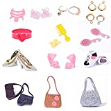 Fashion Jewelry Necklace Earring Bowknot Crown Accessory For Barbie Dolls Random Sets