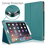 iPad Air 2 Case, [CORNER PROTECTION] CaseCrown Bold Standby Pro (Arctic / Teal) with Sleep / Wake & Multi-Angle Viewing Stand