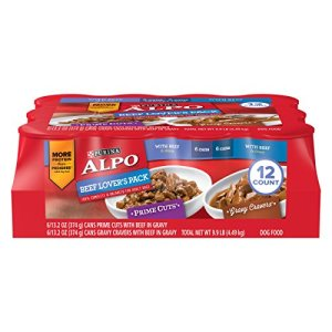 Purina ALPO Gravy Wet Dog Food Variety Pack, Beef Lover's - (12) 13.2 oz. Cans 10