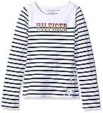 Tommy Hilfiger Big Girls Breton Knit Top, White, Small/7