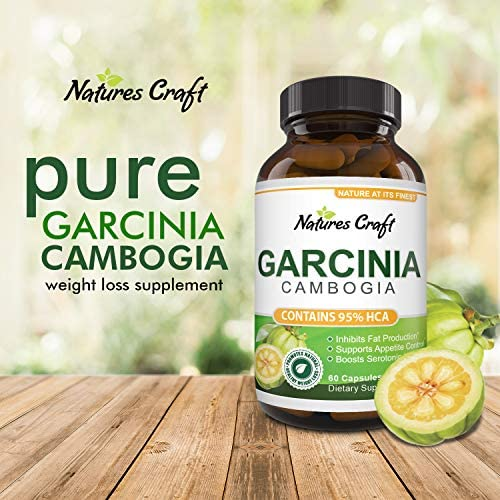 Garcinia Cambogia with 95% HCA Weight Loss Supplement - Best Fast Acting Fat Burner and Natural Carb Blocker Diet Pills - Pure Garcinia Extract Appetite Suppressant for Men & Women 10