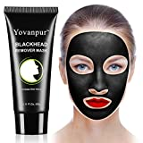 Black Mask, Activated Charcoal Peel off Mask, Purifying Blackhead Remover Mask, Deep Cleaning Blackhead Mask for Acne, Oil Control Face Nose 2.11Oz