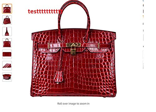 """100% Brand New With Tag Handbag . Overall dimensions: 12"""" H x 8"""" L x 4"""" W . NO BOX . Material : Made Of Hornback Crocodile Skin, Inside's Lining With Genuine Cow Leather Color : as shown in the photos ( the colour may slightly vary due to photographic lighting sources or your monitor settings but generally , the real colour is a little darker ) ."""