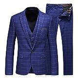Product review for WEEN CHARM Men's 3-Piece Suit Two Button Plaid Slim Fit Blazer Jacket Coat Vest & Pants