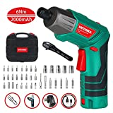 Cordless Screwdriver 6 N.m, HYCHIKA 3.6V 2.0Ah Electric Screwdriver, Front...