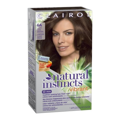 Clairol Natural Instincts Vibrant Permanent Hair Color 6a, Wake Up Cocoa, Light Cool Brown 1 Kit by Clairol