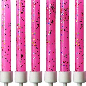 2 x Pink Glitter Candles 51XQYyT8CrL
