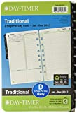 Day-Timer 928001701 Daily Planner Refill January 2017 - December 2017, Two Page Per Day, 5.5 x 8.5-Inches, Desk Size, Traditional