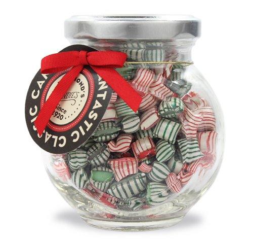 Peppermint & Wintergreen mint, Christmas mix, Candy Pillows 4 oz Gift Jar Hammonds Handmade