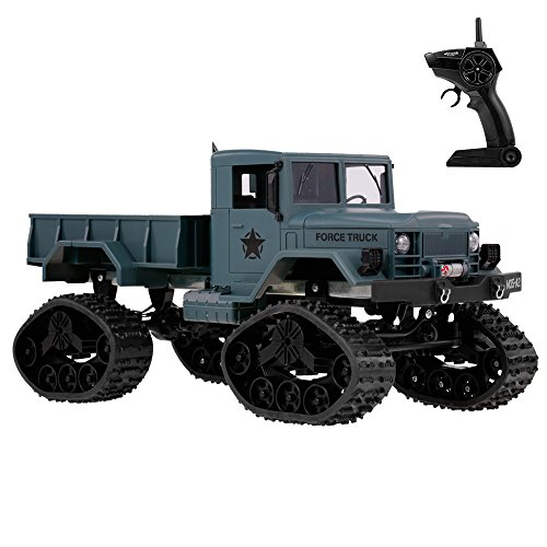 Goolsky Fayee FY001B RC Car 1/16 2.4GHz 4WD 3000G Load Snow Tire Military Truck Off-road Crawler with LED Headlights for Kids