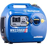 Westinghouse WH2200iXLT Super Quiet Portable Inverter Generator - 1800 Rated Watts and 2200 Peak Watts - Gas Powered - CARB Compliant (Renewed)