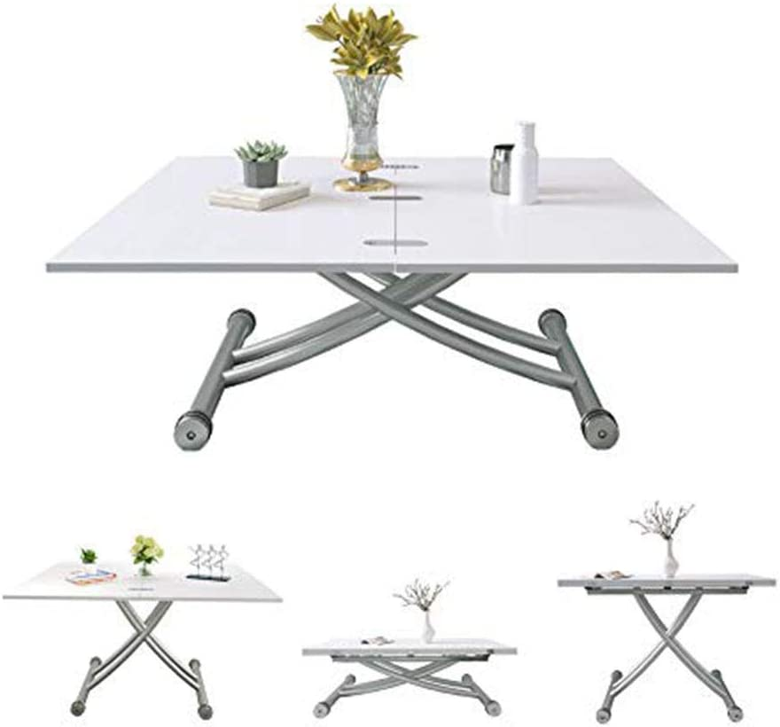 Jeffordoutlet Dining Party Table Lift Up Modern Shape Height Adjustable Coffee Table White Living Room Furniture Amazon Co Uk Kitchen Home
