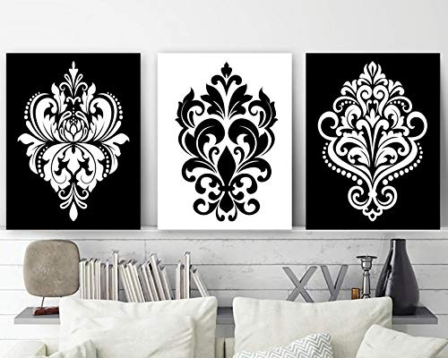 Black White Wall Decor Damask Decor Bl Buy Online In Sweden At Desertcart