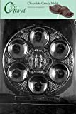 Cybrtrayd R300 Seder Plate Chocolate Candy Mold with Exclusive Cybrtrayd Copyrighted Chocolate Molding Instructions plus Optional Candy Packaging Bundles
