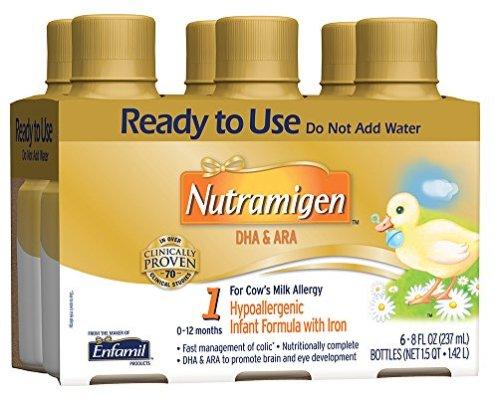 Enfamil Nutramigen Infant Formula - Hypoallergenic & Lactose Free Formula with Enflora LGG - Ready to Use Liquid, 8 fl oz (6 count)