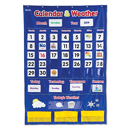 Learning Resources Calendar & Weather Pocket Chart: Up to 48% Off!