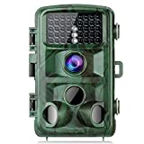 TOGUARD Trail Camera 14MP 1080P Game Cameras with Night Vision Motion Activated Waterproof Wildlife Hunting Cam 120° Detection with 0.3s Trigger Speed 2.4' LCD IR LEDs