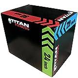 TITAN FITNESS 3-in-1 Portable Foam Plyometric Box, Jumping Exercise Equipment