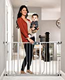 Regalo Easy Step 49-Inch Extra Wide Baby Gate, Includes 4-Inch and 12-Inch Extension Kit, 4 Pack of Pressure Mount Kit, and 4 Pack of Wall Mount Kit, Platinum