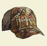Stihl Officially Licensed Mossy Oak Cap W/Mesh Back & Embroidered Orange Logo Adjustable Back
