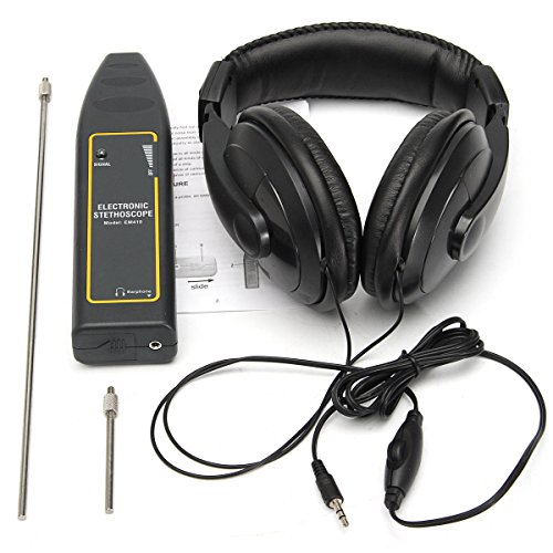 Electronic Stethoscope Earphone Leak Detector Water Pipe Detection Equipment Kit - Measurement & Analysis Instruments Other Instruments- 1 x Electronic Stethoscope, 1 x Earphone