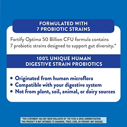 Fortify Optima Women's Daily Probiotic, 50 Billion Live Cultures, 7 Strains, 30 Capsules 7