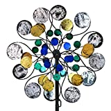 WinWindSpinner Kinetic Wind Spinners Outdoor Metal Yard Spinner with Gardening Decorations with Dual Direction Decorative Lawn Ornament Wind Mills