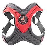 Gooby - Trekking Harness, Small Dog Fleece Lined Harness with Memory Foam Padding, Red, X-Small