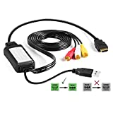 HDMI to RCA Cable Converts Digital HDMI Signal to Analog RCA/AV - Works w/TV/HDTV/Xbox 360/PC/DVD & More - All-in-One Converter Cable Saves You Money - HDMI to AV Converter