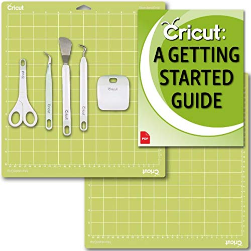 Cricut Machine Basic Tools Set, 2 Pack 12x12 Cutting Mats and Beginner eGuide Bundle