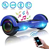 UNI-SUN 6.5' Hoverboard for Kids, Two Wheel Electric Scooter, Self Balancing Hoverboard with Bluetooth and LED Lights for Adults, UL 2272 Certified Hover Board(Ultimate Blue)