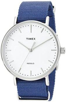 Timex Unisex TW2P97700 Fairfield 41 Blue Nylon Slip-Thru Strap Watch
