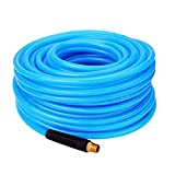 "WYNNsky Reinforced Polyurethane (PU) Air Hose, 1/4""x100ft, 300 PSI, Air Compressor Hose with 1/4"" MNPT Brass Endings"