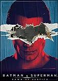 """Ata-Boy Batman v Superman Dawn of Justice Batman over Superman 2.5"""" x 3.5"""" Magnet for Refrigerators and Lockers"""