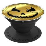 Scary Halloween Cryptocurrency Coin – PopSockets Grip and Stand for Phones and Tablets