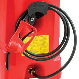 Scepter-Flo-N-Go-Duramax-14-Gallon-Portable-On-Wheels-Gas-Fuel-Tank-Container-with-LE-Fluid-Transfer-Siphon-Pump-and-10-Foot-Long-Hose-2-Pack