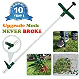 Walensee 10 Years Warranty Stand Up Weeder and Weed Puller, Stand up Manual Weeder Hand Tool with 3 Claws, Stainless Steel and High Strength Foot Pedal, Weed Puller (1 Pack (Stand Up Weeder))