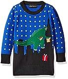 Alex Stevens Little Boys' Toddler T-Rex Godzilla Sweater, Blue Combo, 3T