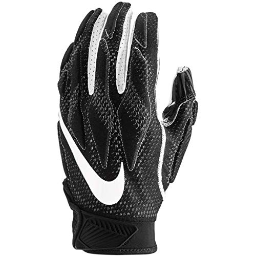 Nike Youth Superbad 4.5 Football Gloves (Black/Black/White, Large)