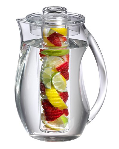 Prodyne FI-3 Fruit Infusion Flavor Pitcher, 2.9 qt Clear, 93 oz,