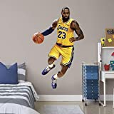 Fathead NBA Los Angeles Lakers LeBron James LeBron James- Officially Licensed Removable Wall Decal, Multicolor, Life-Size