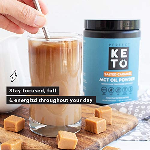 Perfect Keto MCT Oil C8 Powder, Coconut Medium Chain Triglycerides for Pure Clean Energy, Ketogenic Non Dairy Coffee Creamer, Bulk Supplement, Helps Boost Ketones, Chocolate 5