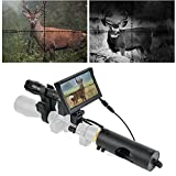 BESTSIGHT DIY Digital Night Vision Scope for riflescopes with Camera and 5' Portable Display Screen