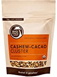 Big Tree Farms Organic Cashew-Cacao Sweet Nibs Clusters, Cold Processed, Raw, Non-GMO, Vegan, Superfood, Healthy Energy Snack, 4 Ounce