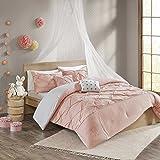Urban Habitat Kids Aurora 4 Pieces Cotton Reversible Comforter Set Bedding, Twin/Twin XL Size, Blush