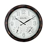 Bulova C4851 Weather Mate Lighted Dial Wall Clock 22' Copper