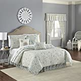 WAVERLY Astrid Quilt Collection, King, Mineral
