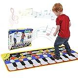 Musical Piano Mat 19 Keys Piano Keyboard Play mat Portable Musical Blanket Build-In Speaker & Recording Function For Kids Toddler Girls Boys