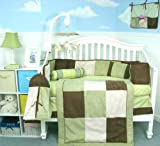 SoHo Baby Crib Bedding 9 Piece Set, Greens